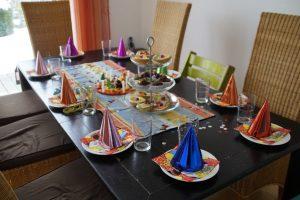 Décoration anniversaire adulte table enfant