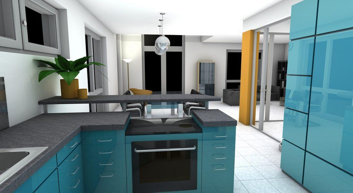 Simulation cuisine ouverte